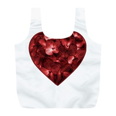 Floral Heart Shape Ornament Full Print Recycle Bags (l)  by dflcprints
