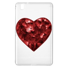 Floral Heart Shape Ornament Samsung Galaxy Tab Pro 8 4 Hardshell Case by dflcprints