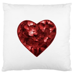 Floral Heart Shape Ornament Standard Flano Cushion Case (one Side) by dflcprints