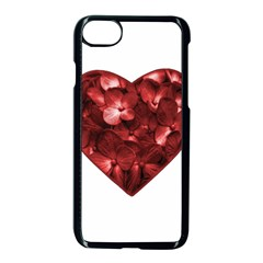 Floral Heart Shape Ornament Apple Iphone 7 Seamless Case (black) by dflcprints