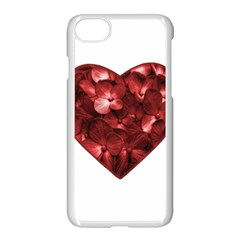 Floral Heart Shape Ornament Apple Iphone 7 Seamless Case (white) by dflcprints