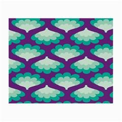 Purple Flower Fan Small Glasses Cloth by Jojostore