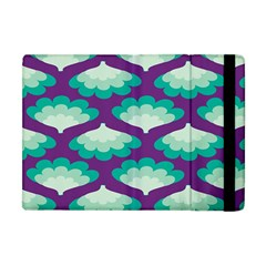 Purple Flower Fan Apple Ipad Mini Flip Case by Jojostore