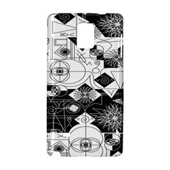 Point Line Plane Themed Original Design Samsung Galaxy Note 4 Hardshell Case by Jojostore