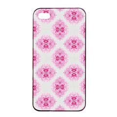 Peony Photo Repeat Floral Flower Rose Pink Apple Iphone 4/4s Seamless Case (black) by Jojostore