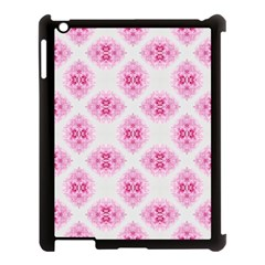 Peony Photo Repeat Floral Flower Rose Pink Apple Ipad 3/4 Case (black) by Jojostore