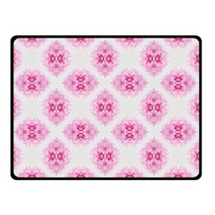 Peony Photo Repeat Floral Flower Rose Pink Double Sided Fleece Blanket (small)  by Jojostore