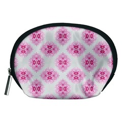 Peony Photo Repeat Floral Flower Rose Pink Accessory Pouches (medium)  by Jojostore