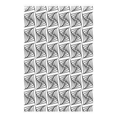 Plaid Black Shower Curtain 48  x 72  (Small)  by Jojostore