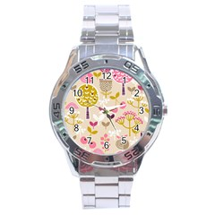 Retro Fruit Leaf Tree Orchard Stainless Steel Analogue Watch by Jojostore