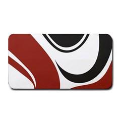 Red Black Medium Bar Mats by Jojostore