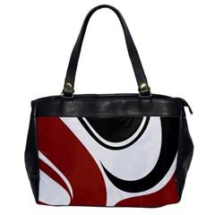 Red Black Office Handbags