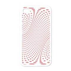 Red Circle Apple Iphone 4 Case (white) by Jojostore