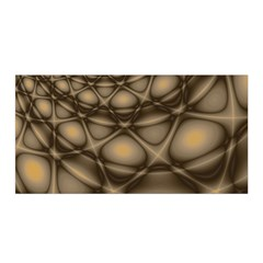 Rocks Metal Fractal Pattern Satin Wrap by Jojostore