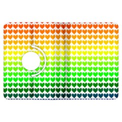 Rainbow Love Heart Valentine Orange Yellow Green Blue Kindle Fire Hdx Flip 360 Case by Jojostore