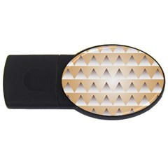 Pattern Retro Background Texture Usb Flash Drive Oval (4 Gb)