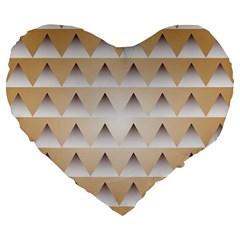 Pattern Retro Background Texture Large 19  Premium Flano Heart Shape Cushions by Nexatart