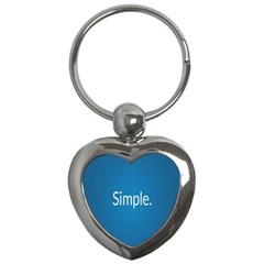Simple Feature Blue Key Chains (heart)  by Jojostore