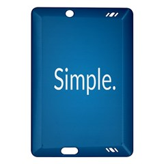 Simple Feature Blue Amazon Kindle Fire Hd (2013) Hardshell Case by Jojostore