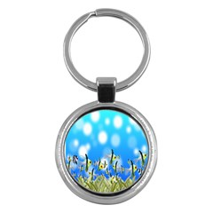 Pisces Underwater World Fairy Tale Key Chains (round)  by Nexatart