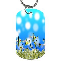 Pisces Underwater World Fairy Tale Dog Tag (One Side)