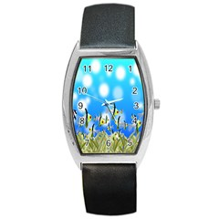 Pisces Underwater World Fairy Tale Barrel Style Metal Watch by Nexatart