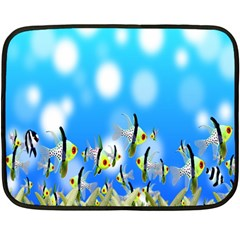 Pisces Underwater World Fairy Tale Double Sided Fleece Blanket (Mini)