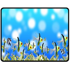 Pisces Underwater World Fairy Tale Fleece Blanket (medium)  by Nexatart