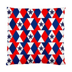 Patriotic Red White Blue 3d Stars Standard Cushion Case (one Side) by Nexatart