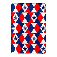 Patriotic Red White Blue 3d Stars Samsung Galaxy Tab Pro 12 2 Hardshell Case by Nexatart