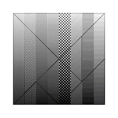 Semi Authentic Screen Tone Gradient Pack Acrylic Tangram Puzzle (6  X 6 ) by Jojostore