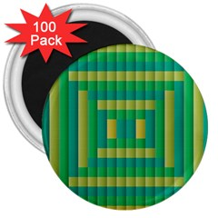 Pattern Grid Squares Texture 3  Magnets (100 Pack)