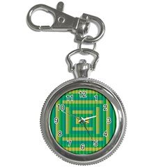 Pattern Grid Squares Texture Key Chain Watches by Nexatart