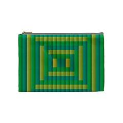 Pattern Grid Squares Texture Cosmetic Bag (medium)  by Nexatart