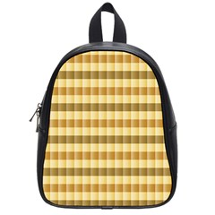 Pattern Grid Squares Texture School Bags (small)  by Nexatart