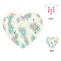 Small Circle Blue Brown Playing Cards (heart)  by Jojostore