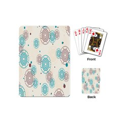 Small Circle Blue Brown Playing Cards (mini)  by Jojostore