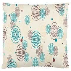 Small Circle Blue Brown Standard Flano Cushion Case (one Side) by Jojostore