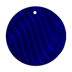 Sparkly Design Blue Wave Abstract Ornament (round)