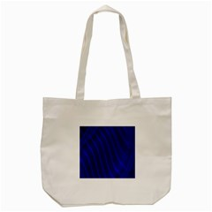 Sparkly Design Blue Wave Abstract Tote Bag (cream) by Jojostore