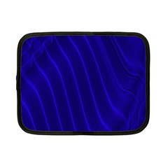 Sparkly Design Blue Wave Abstract Netbook Case (small)  by Jojostore