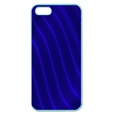 Sparkly Design Blue Wave Abstract Apple Seamless Iphone 5 Case (color) by Jojostore