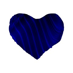 Sparkly Design Blue Wave Abstract Standard 16  Premium Heart Shape Cushions by Jojostore