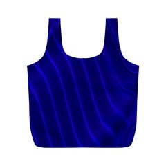 Sparkly Design Blue Wave Abstract Full Print Recycle Bags (m)  by Jojostore