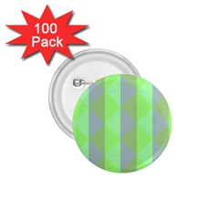 Squares Triangel Green Yellow Blue 1 75  Buttons (100 Pack)  by Jojostore