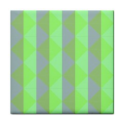 Squares Triangel Green Yellow Blue Face Towel by Jojostore