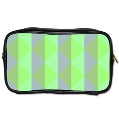 Squares Triangel Green Yellow Blue Toiletries Bags 2 Side by Jojostore