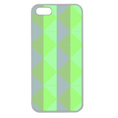Squares Triangel Green Yellow Blue Apple Seamless iPhone 5 Case (Clear)