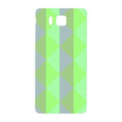 Squares Triangel Green Yellow Blue Samsung Galaxy Alpha Hardshell Back Case by Jojostore