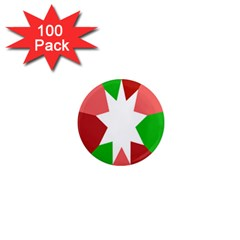 Star Flag Color 1  Mini Magnets (100 Pack)  by Jojostore